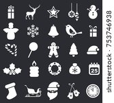 set of christmas icons....
