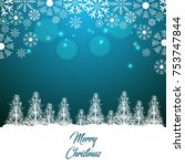 merry christmas and happy new... | Shutterstock .eps vector #753747844