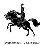 hussar on horseback | Shutterstock .eps vector #753751060
