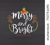 merry christmas greeting card... | Shutterstock .eps vector #753751690
