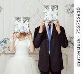original wedding  bride and... | Shutterstock . vector #753753610