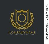 company shield royalty real... | Shutterstock .eps vector #753754078