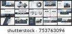 abstract white  gray... | Shutterstock .eps vector #753763096