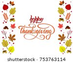 happy thanksgiving vector style ... | Shutterstock .eps vector #753763114