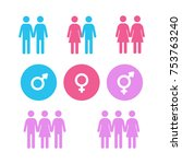 human sex orientation icons.... | Shutterstock .eps vector #753763240