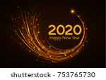 happy new year 2020  vector... | Shutterstock .eps vector #753765730