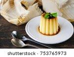 homemade creme caramel dessert...   Shutterstock . vector #753765973