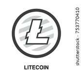 litecoin crypto currency... | Shutterstock .eps vector #753770410