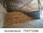 agro elevator grain storage... | Shutterstock . vector #753771586