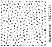 a pattern of latin letters.... | Shutterstock .eps vector #753772294