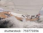 close up of sailing boat  sail... | Shutterstock . vector #753773356