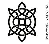 celtic national ornament in the ... | Shutterstock .eps vector #753773764