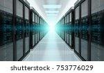 bright server room data center... | Shutterstock . vector #753776029