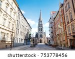 st. mary's street and church in ... | Shutterstock . vector #753778456