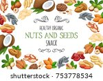 banner frame template with nuts ... | Shutterstock .eps vector #753778534