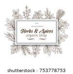 banner template with hand drawn ... | Shutterstock .eps vector #753778753