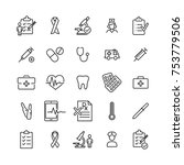 modern outline style healthcare ... | Shutterstock .eps vector #753779506