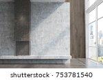 modern living room interior... | Shutterstock . vector #753781540