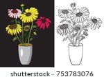 flower gerbera or sunflower on... | Shutterstock .eps vector #753783076