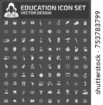 education icon set vector | Shutterstock .eps vector #753783799