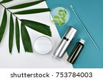 cosmetic bottle containers with ... | Shutterstock . vector #753784003