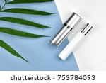 cosmetic bottle containers with ... | Shutterstock . vector #753784093