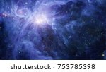 nebula and galaxies in space.... | Shutterstock . vector #753785398
