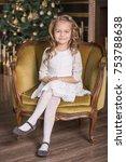 lovely girl on the background...   Shutterstock . vector #753788638