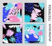 set of creative card template... | Shutterstock . vector #753789826