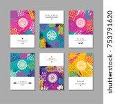 set of artistic creative... | Shutterstock . vector #753791620