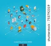 construction integrated 3d web... | Shutterstock .eps vector #753792319