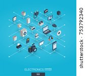 electronics integrated 3d web... | Shutterstock .eps vector #753792340