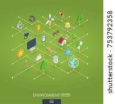 environmental integrated 3d web ... | Shutterstock .eps vector #753792358