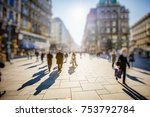 crowd of anonymous people... | Shutterstock . vector #753792784