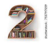 number 2 two.. alphabet in the... | Shutterstock . vector #753797059