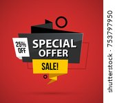 special offer banner template... | Shutterstock .eps vector #753797950