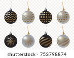creative black and silver... | Shutterstock .eps vector #753798874