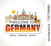 germany lettering sights... | Shutterstock .eps vector #753798880