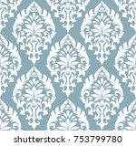 vector damask seamless pattern... | Shutterstock .eps vector #753799780