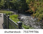 river in minnehaha falls in... | Shutterstock . vector #753799786