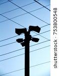 silhouette view of megaphones... | Shutterstock . vector #753800548