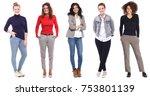 group of strong women | Shutterstock . vector #753801139