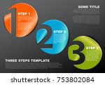 one two three   vector progress ... | Shutterstock .eps vector #753802084