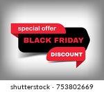 vector black friday sale banner ... | Shutterstock .eps vector #753802669