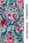 floral art design   Shutterstock . vector #753805093