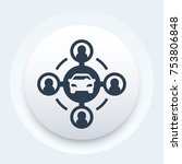 carsharing vector icon | Shutterstock .eps vector #753806848