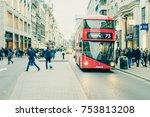 london  uk   19 february  2017  ... | Shutterstock . vector #753813208