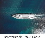 drone aerial view on small... | Shutterstock . vector #753815236