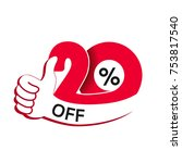 vector special sale offer. red... | Shutterstock .eps vector #753817540