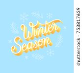winter season lettering... | Shutterstock .eps vector #753817639